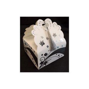 BOÎTE À DRAGÉES 25 boîtes à gâteaux déco florale argentée