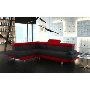 Canape rouge et noir achat vente canape rouge et noir pas cher cdiscount - Canape d angle rouge et noir ...
