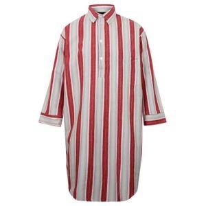 PYJAMA Chemise de nuit à rayures pour homme - 100% coton