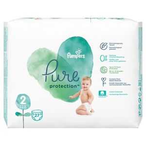 COUCHE 27 Couches Pampers Pure Protection Taille 2 Mini 4