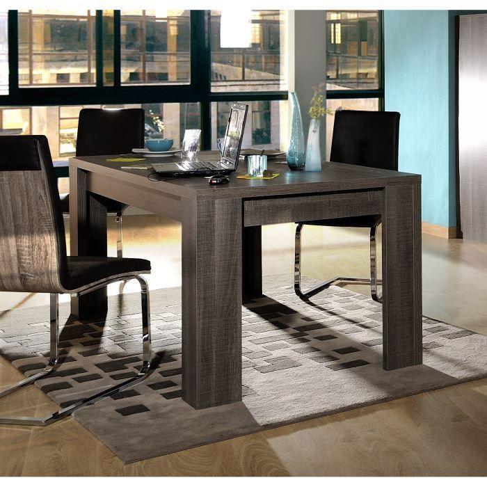 Table à manger seule biarritz table extensible bois gris l180 260cm