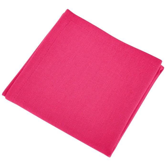 VENT DU SUD Lot de 12 serviettes de table YUCO - Rose fuchsia