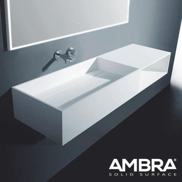 vasque a suspendre Meuble vasque suspendu 120 cm - Marbella Blanc