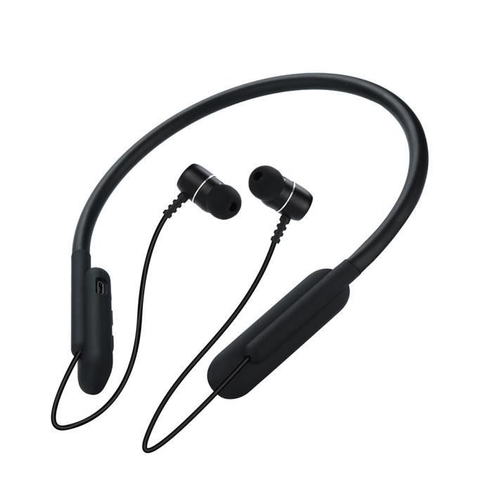 Casque Sans Fil Bluetooth4.1 In-ear Neckband W - Mic Sport Pour Iphone Xs Max @2534