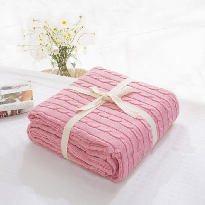 couverture plaid nova rose 180cm200cm enfants belle couverture lit - Couverture Lit
