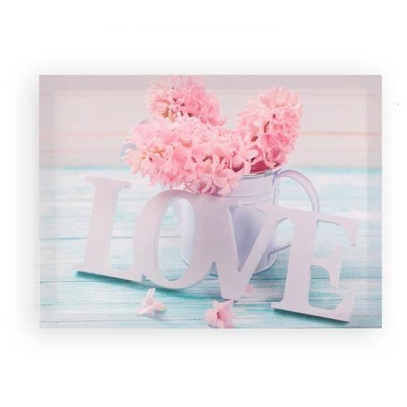 Cadre Toile Fleur Rose Romantique 40 X 30 Cm Achat Vente
