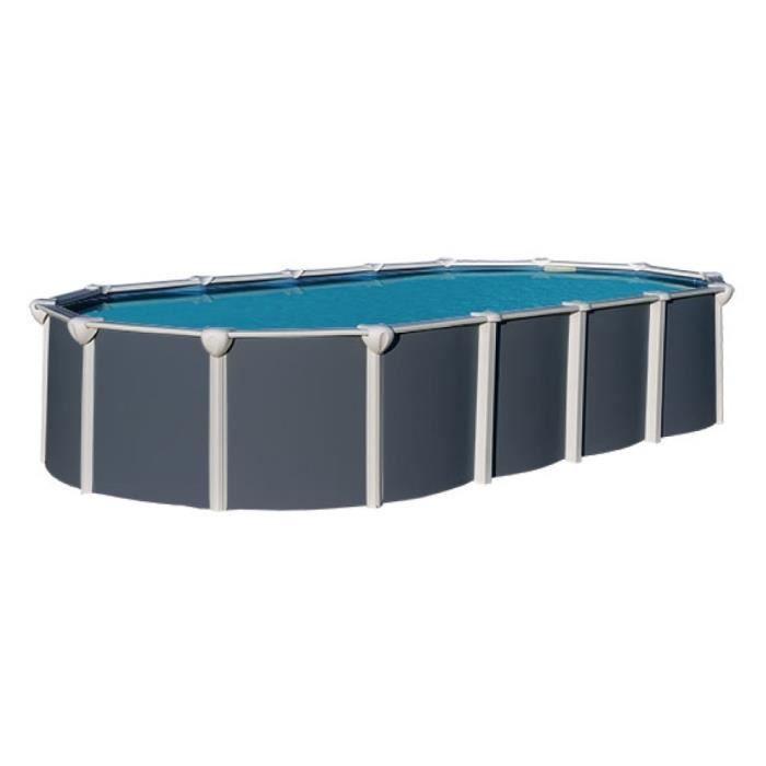 piscine acier ovale hauteur 1 32 achat vente pas cher. Black Bedroom Furniture Sets. Home Design Ideas