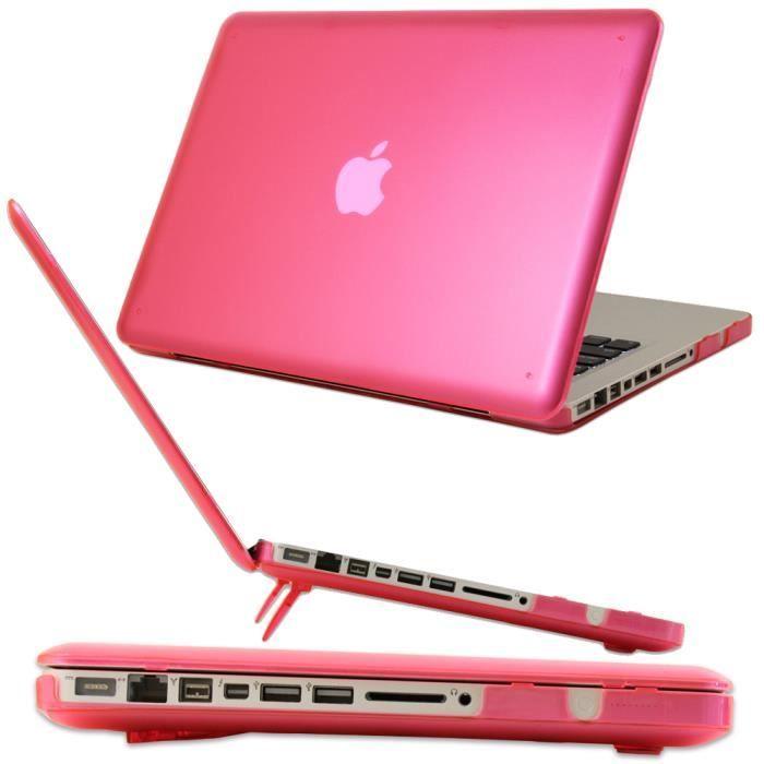 coque pour macbook pro 13 3 pouce rose modele a1278 avec lecteur de dvd ne pas compatible. Black Bedroom Furniture Sets. Home Design Ideas