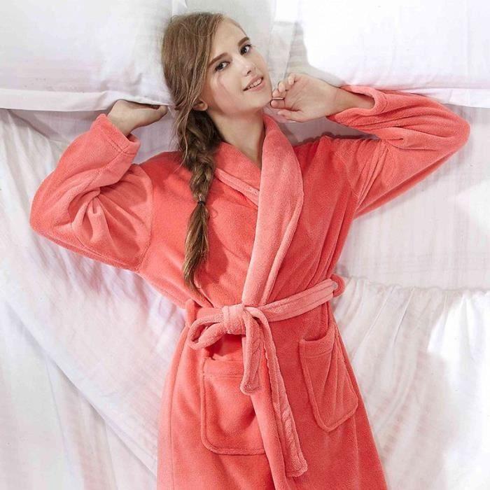 peignoir velours femme orange cl achat vente peignoir cdiscount. Black Bedroom Furniture Sets. Home Design Ideas