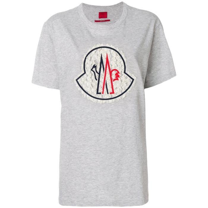 5384cb80b888 Gris Coton Moncler Femme Shirt T Rouge 8086600829d4906 Gamme IxTFwqZT7