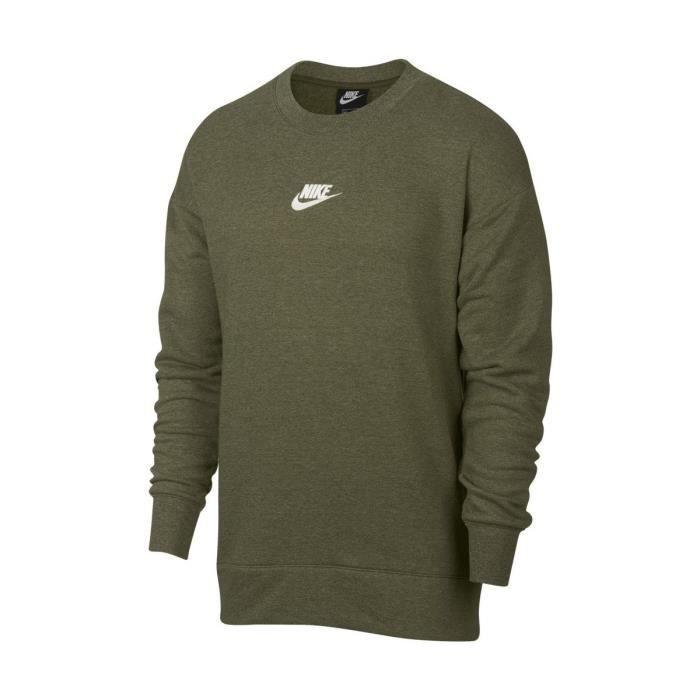 99e62358e0 Sweatshirt Nike Sportswear Heritage Fleece Crew - 928427-395 Vert ...