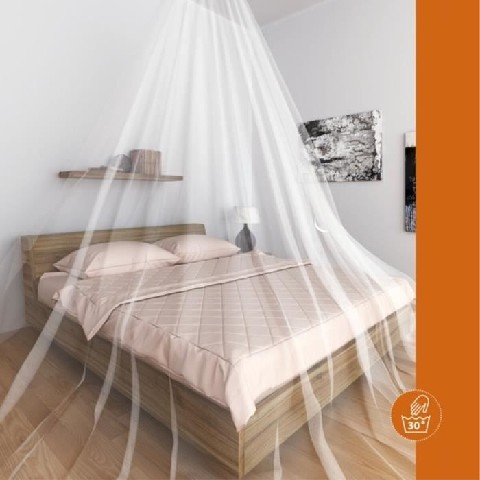 windhager moustiquaire ciel de lit single blanc achat vente moustiquaire de lit cdiscount. Black Bedroom Furniture Sets. Home Design Ideas