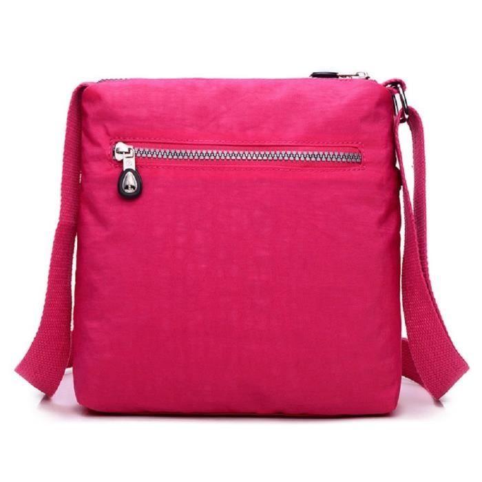 Designer Style en nylon Sac à bandoulière Messenger bandoulière multi-poche étanche BO3LQ