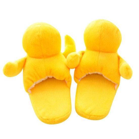 Pantoufles Femmes Hommes Petit Canard Jaune En Peluche Hiver Adulte Chaussons Doux Et Chauds Populaire BSMG-XZ141Jaune43 Lpwblcn7w
