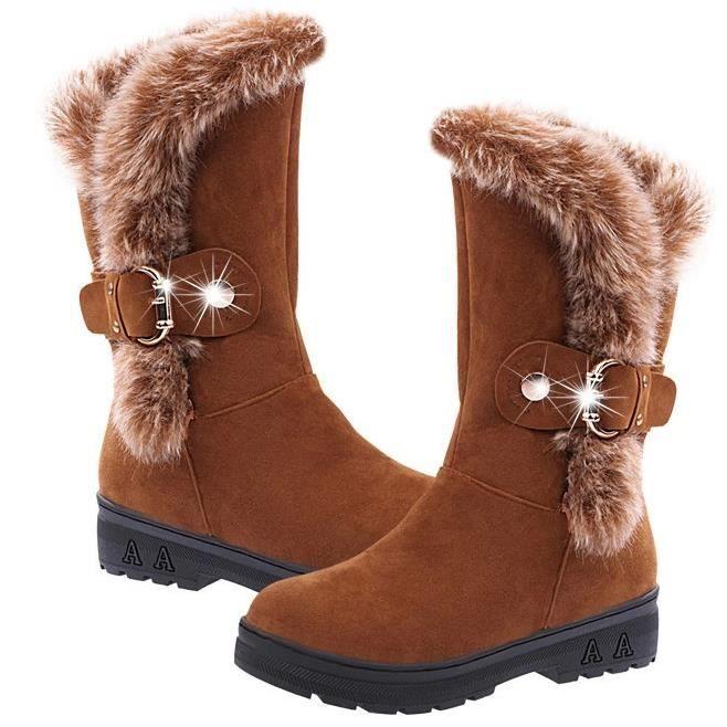 Brun Chaussures d'hiver est encore faible avec Martin bottes bottes chaudes.