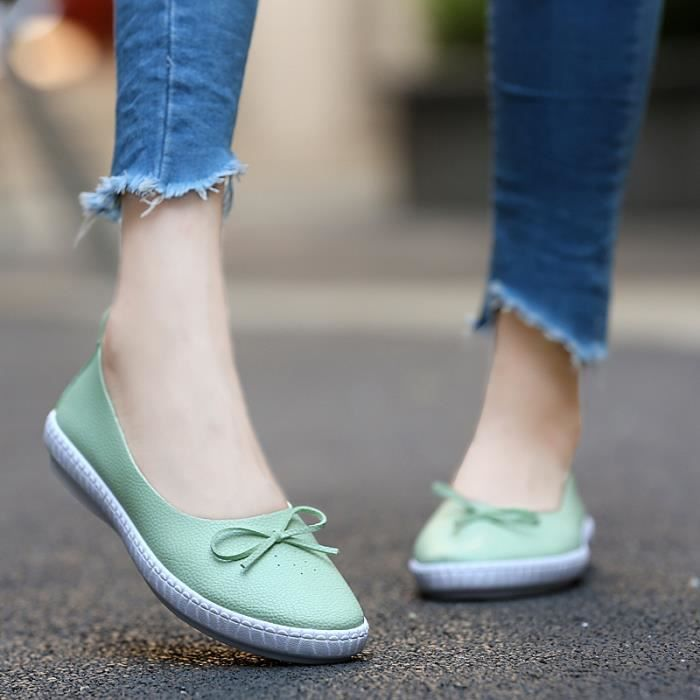 Nouvelle Mode Femmes Chaussures Plat Pointue Toe Sweet Printemps Automne Occasionnels Chaussures Chaussures