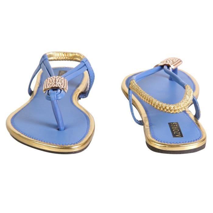 femmes élégantes appartements bleus O7FWF Taille-36 29o3HZrHT
