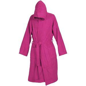 PEIGNOIR Peignoir de bain rose avec capuche et deux poches