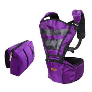 Double épaule Porte-bébé Kid Hip Support du siège Avec sac de taille pourpre ab24d5bec5b