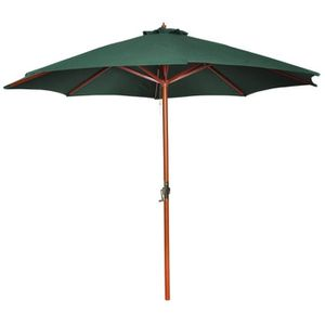 Parasol vert en bois 258 cm   Achat / Vente parasol Parasol vert
