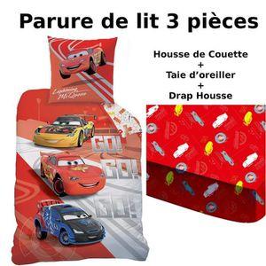 HOUSSE DE COUETTE SEULE Disney Parure 3 Pièces Cars Housse de Couette 140X