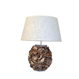 LAMPE A POSER Lampe de table perforée Natura 28 cm naturel