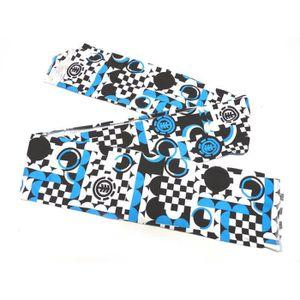b5c46b19ba68 ECHARPE - FOULARD Chech ELEMENT Cass Chech White Black Blue aille un