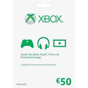 PACK ACCESSOIRE XBOX LIVE - 50 EURO GUTHABENKARTE