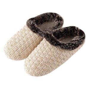 Napoulen®Femmes dames Peluches moelleuses chausson en fourrure faux flip flop ROSE-YSZ70819492WR f84J7hqu