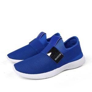 Chaussures En Toile Hommes Basses Quatre Saisons Durable CHT-XZ115Bleu44 AhrPfk