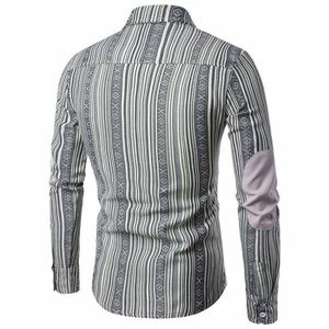 CHEMISE - CHEMISETTE Chemise homme Slim Fit manches longues à rayures B ... 1528a0a6404