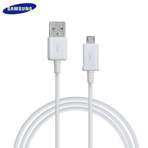 CÂBLE TÉLÉPHONE Cable blanc Samsung USB - Micro USB d'une longueur