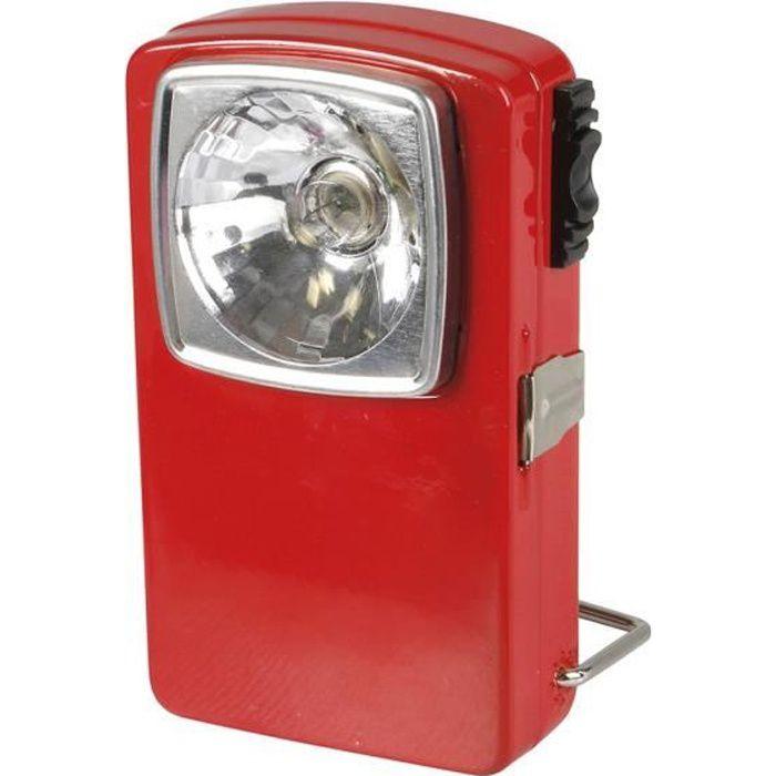 EXPERT LINE Torche plate 3 LED métal rouge