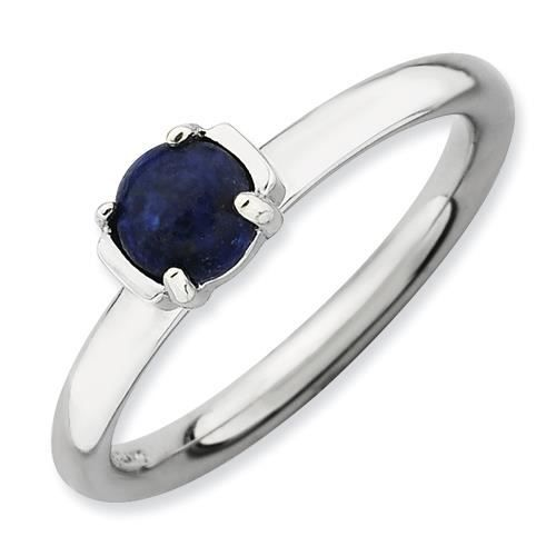 2,5 mm Argent Sterling Expressions empilable poli Lapis Bleu-Taille 1/2–N
