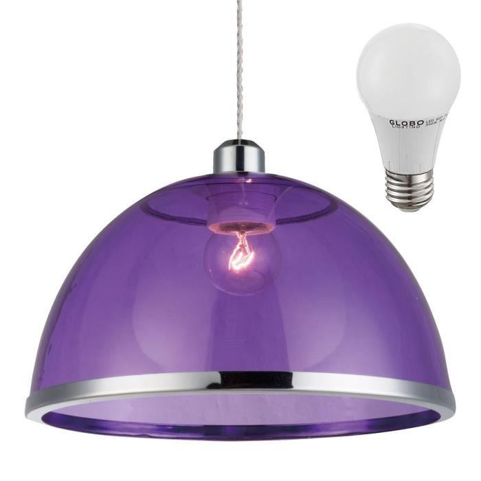 Lampe Del 7 Chromé Led Lila Lustre Luminaire Violet W Plafond Anneau Suspension 6vb7IYygf