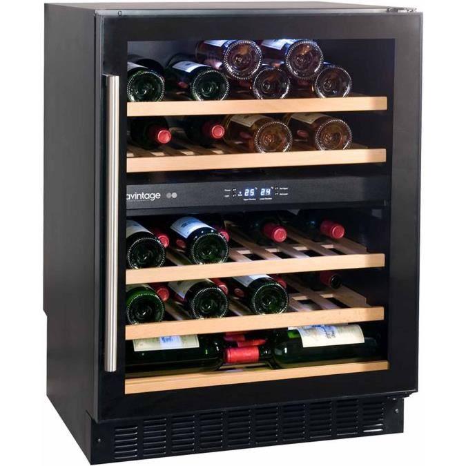 Cave à vin de service - 2 temp. - 50 bouteilles - Noir - AVINTAGE ... dbb359910200