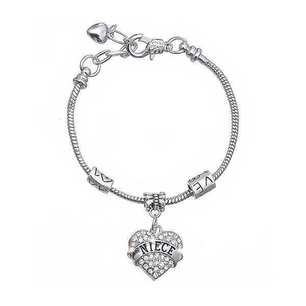 Glamorousky Bracelet coeur de nièce Fashion avec cristal délément autrichien blanc (24498)