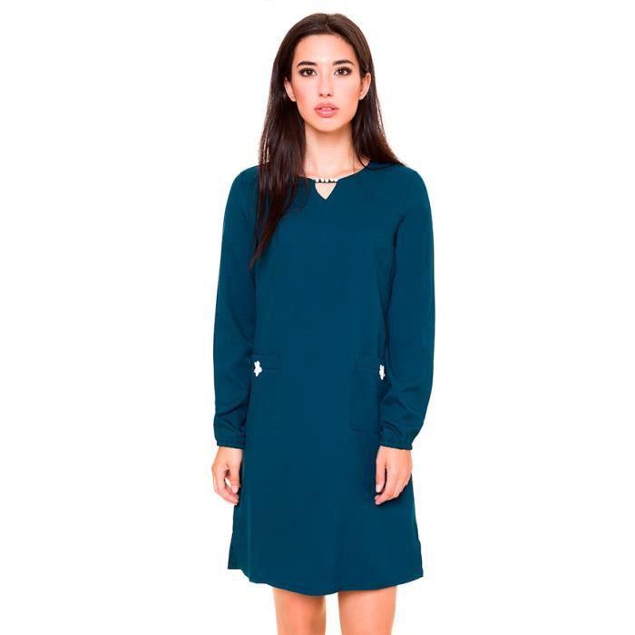 Azura - Robe turquoise vert Haley