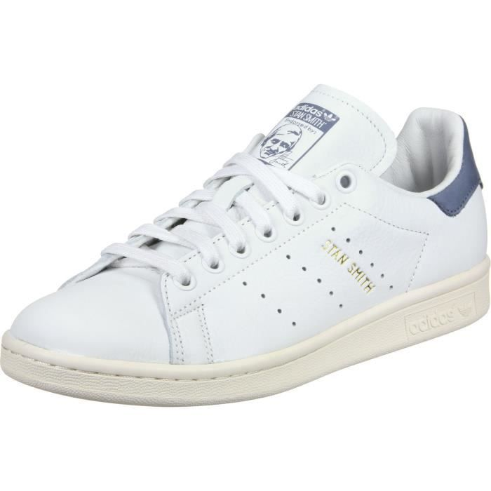 promo code 7c58e 92659 ADIDAS chaussures homme stan smith blanc - beige - bleu OJ944 Taille-36