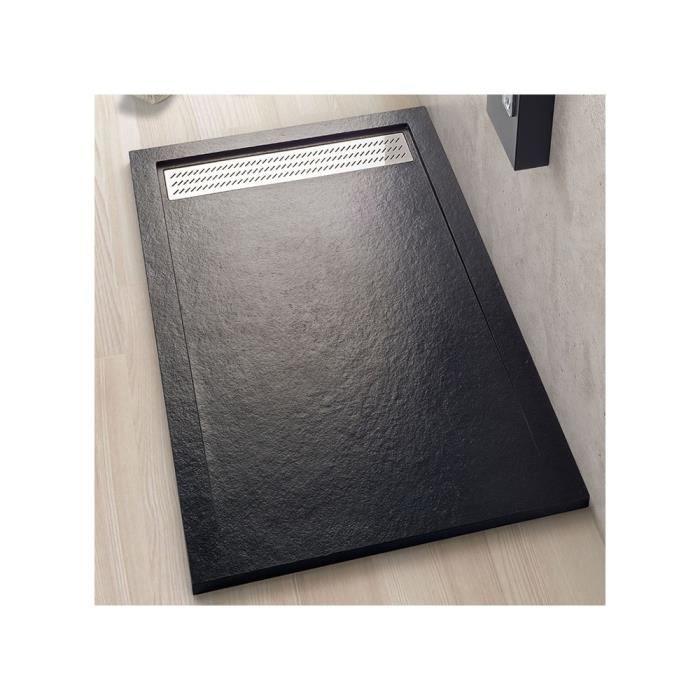 receveur de douche 80x120 cm extra plat noir icaro voir description produit achat vente. Black Bedroom Furniture Sets. Home Design Ideas