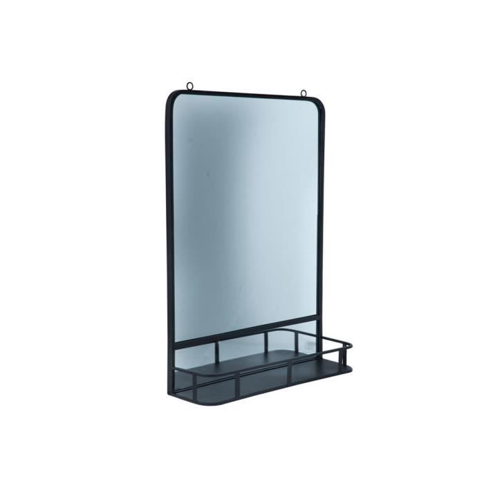 Miroir Avec Tablette En Métal Noir 40x12x56cm Tafla Achat Vente