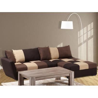 canap sofa divan canap dangle convertible en tissu romane - Canape Angle Convertible Tissu