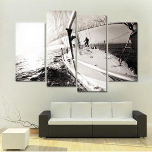 Tableaux peinture sur toile noir et blanc Achat Vente pas cher