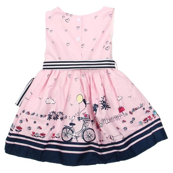 nouvelle robe en ete Robes des enfants Robes princesse de soiree pour les filles dage de deux ans en couleur de rose