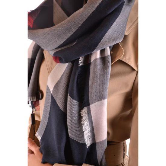 07f745bd91bd BURBERRY FEMME MCBI056357O BLEU CACHEMIRE ÉCHARPE - Achat   Vente echarpe -  foulard 2009208727731 - Cdiscount