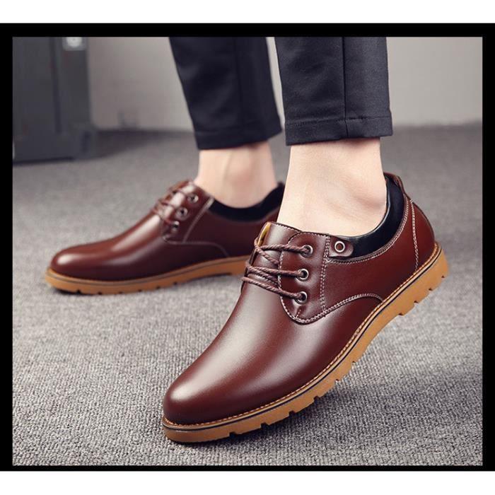 Chaussures en cuir pour hommes Mocassins formels Oxford Chaussures respirantes Plus Size 38-44