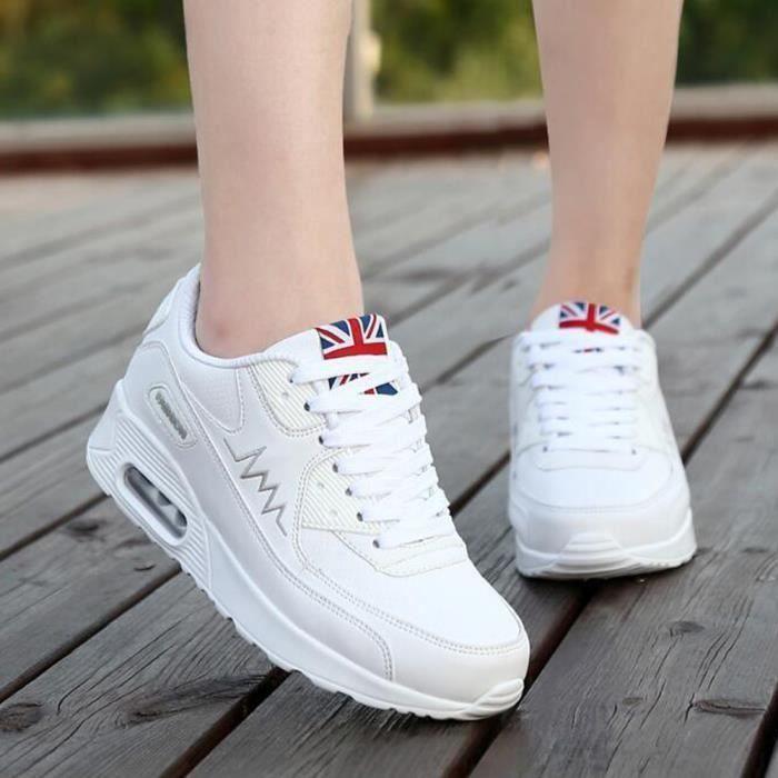 Mode Nouvelle Blanc Sport En Chaussures Cuir Femme De Basket xqnYPIY
