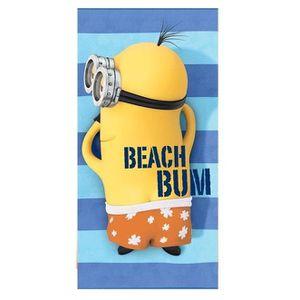 MINIONS Beach Bum Serviette de plage microfibre 70x140 cm bleu, jaune et orange