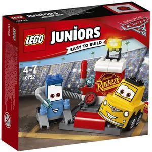 LEGO? Junior Cars 3 10732 L'Arr?t au Stand de Guido et Luigi