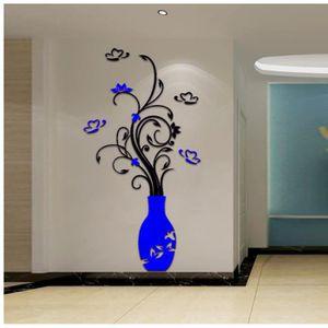 VASE - SOLIFLORE Sticker mural stéréo cristal 3D acrylique 860 vase